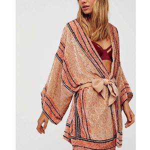 FREE PEOPLE Woven Sweater Intricate Draped Coverup